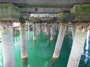 Photo: Under pier at Mallaig
