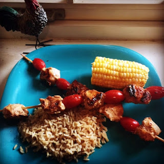 Middle Eastern Chicken Kabobs and THE BEST CORN EVER!.