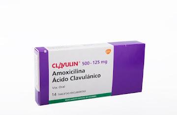 Clavulin 500/125Mg Tab.   Caja x14Tab. GSK Amoxicilina Ácido Clavulánico