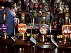 Photo: Cask lineup at Thornbridge's Greystones pub.