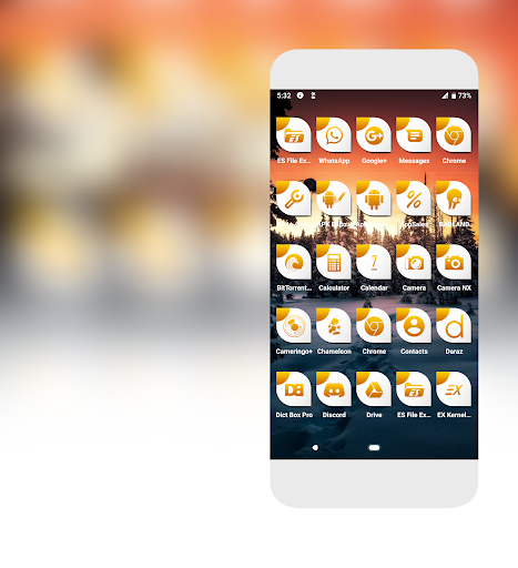 Download Cameo Orange Icons Pack MOD APK 2