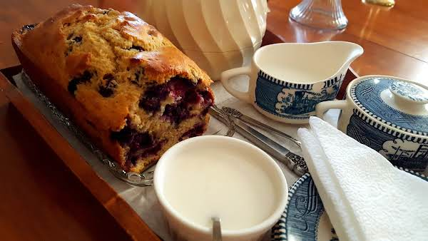 Reduced Calorie Lemon Blueberry Bread