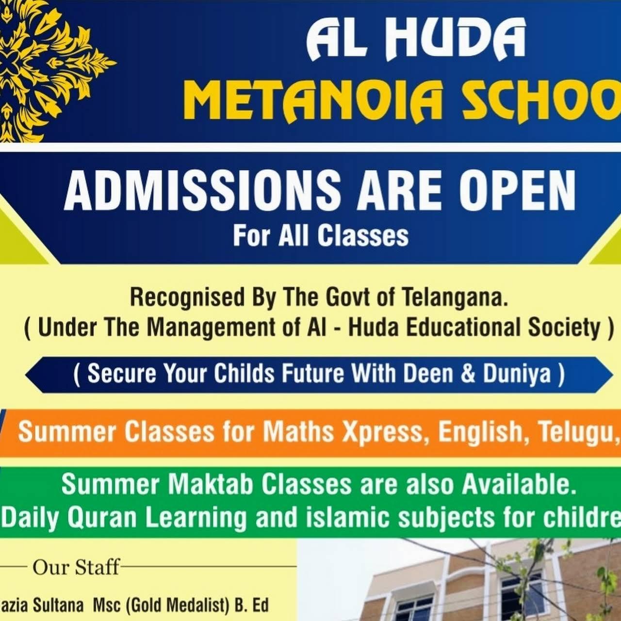 Al-Huda metanoia school - School in Secunderabad