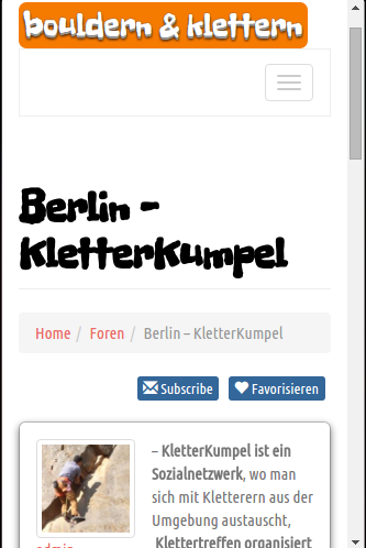 KletterKumpel – Screenshot