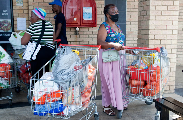 South Africans, who are struggling to keep their heads above water, are forking out more for a basic food basket compared to seven months ago.