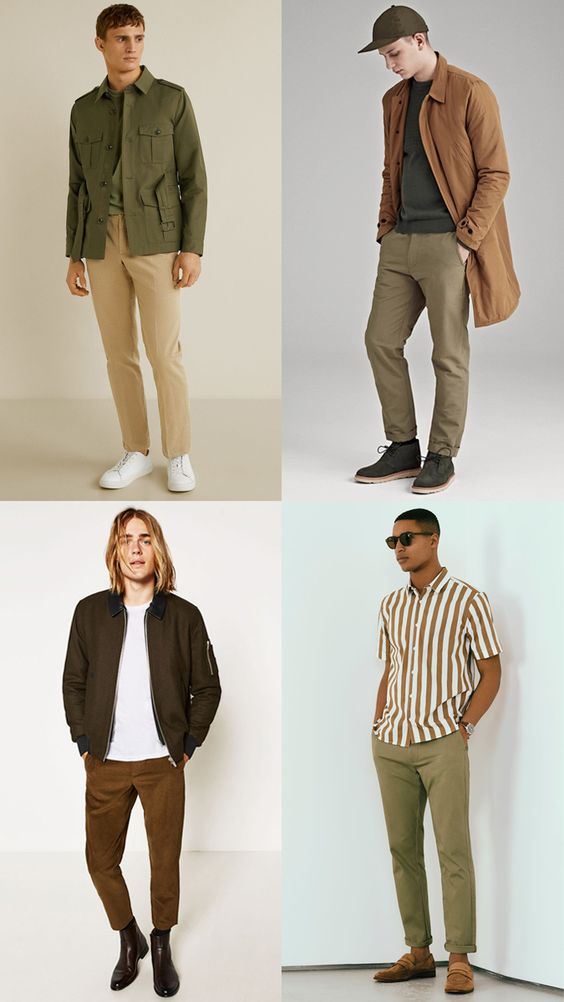 men wearing neutral outfits