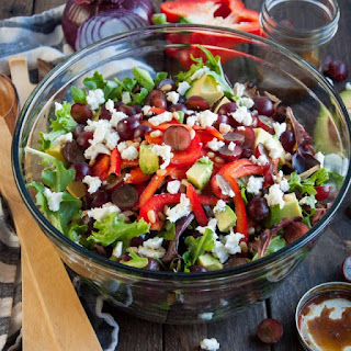 Green Salad with Curry Balsamic Dressing.