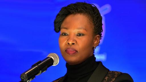 Minister of communications Stella Ndabeni-Abrahams.