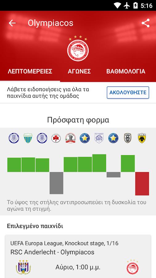 SofaScore Live Scores Σκορ - στιγμιότυπο οθόνης