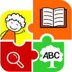 Kids picture dictionary, words icon