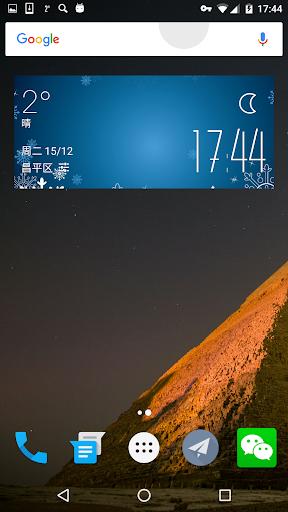 snow weather widget clock