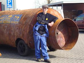 Photo: Jef met zijn Carbid bus XXXL...