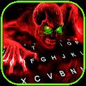 Scary Zombie Skull Keyboard Background icon