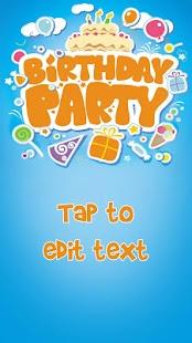 Create Birthday Invitations - Happy Birthday Cards - náhled