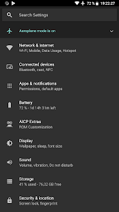 Default Dark Theme for Substratum Screenshot