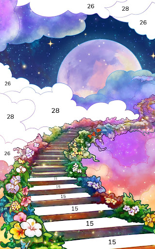Bible Coloring - Paint by Number, Free Bible Games 2.5.2 screenshots 11