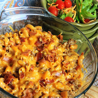 Macaroni And Cheese With Ground Beef And Bacon Recipes.