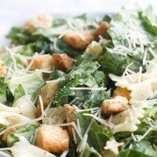 Bow Tie Caesar Salad.