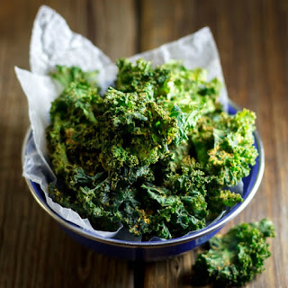 Indian Spiced Baked Kale Chips.