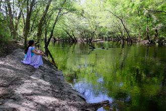 Photo: Listening to the Santa Fe River, FL.