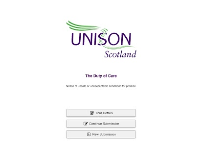 Duty of Care - UNISON Scotland- screenshot thumbnail