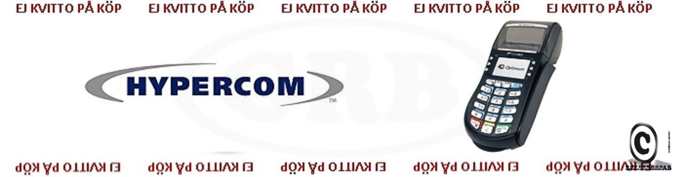 Hypercom kontokortsrullar