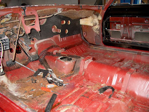 Photo: stripping the car of everything