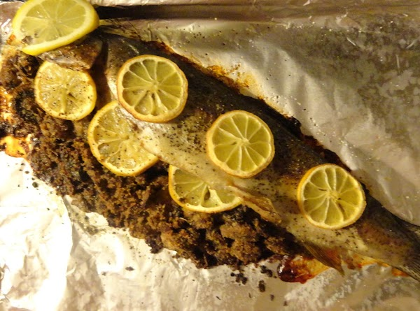 Bake for about 30 minutes or until the fish flakes easily and the stuffing...