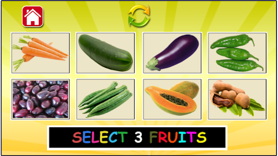 Fruits and vegetables learning- screenshot thumbnail