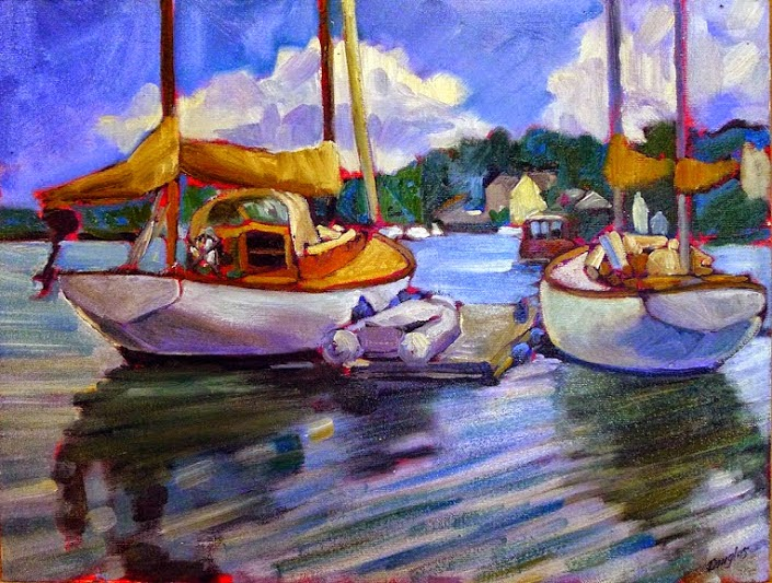 Photo: At rest in Camden harbor 12X16 oil on canvasboard