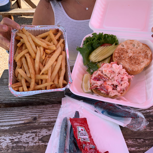 Gluten Free fries and lobster roll:)