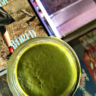 Groovy Green Ginger Berry Smoothie.