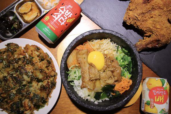 四米大石鍋拌飯專賣一藏身在老公寓2樓的韓式料理