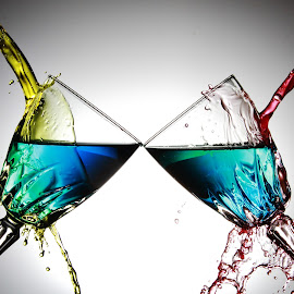 Twin glasses1.5 by Peter Salmon - Artistic Objects Glass