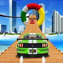 Impossible Tricky Sky stunt racing Mega Ramp Game icon