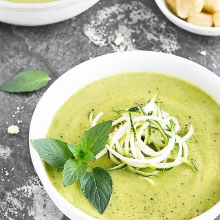 Healthy Zucchini Avocado Soup