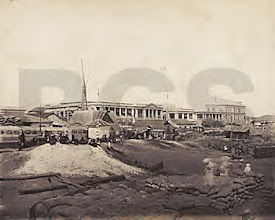 Photo: Madras port - view from Rajaji salai.