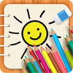 Drawing Board for Kids and Students Icon