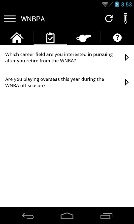 WNBPA: Official Players App- screenshot