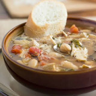 Crock Pot Tuscan Chicken Bean Soup.