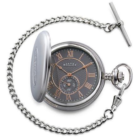 Dalvey Full Hunter Pocket Watch Grey/Rosé
