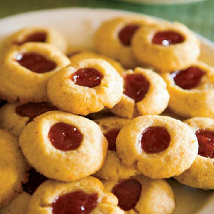 Almond Shortbread Thumbprint Cookies Recipe | Yummly