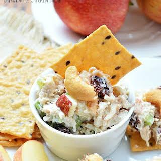 Gluten Free Apple Cherry Chicken Salad.