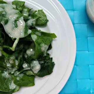 Lemon Garlic Low Carb Salad Dressing.