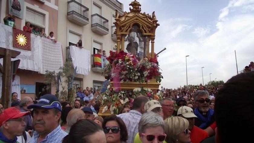 Bajada de la Virgen del Saliente en 2015.