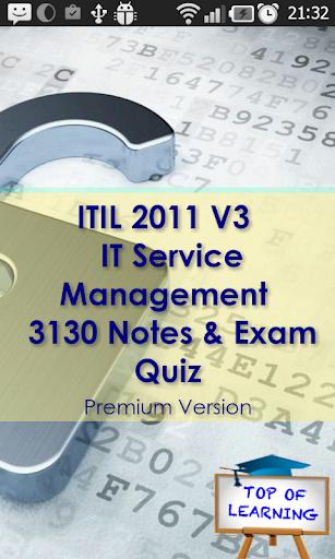 ITIL 3000 Study notes Exam Q