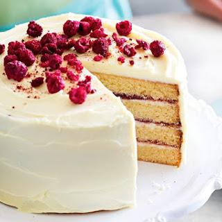 Anneka Manning's layered white chocolate cake.