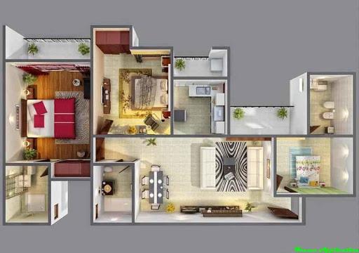 3Dハウスプランのデザインのアイデア