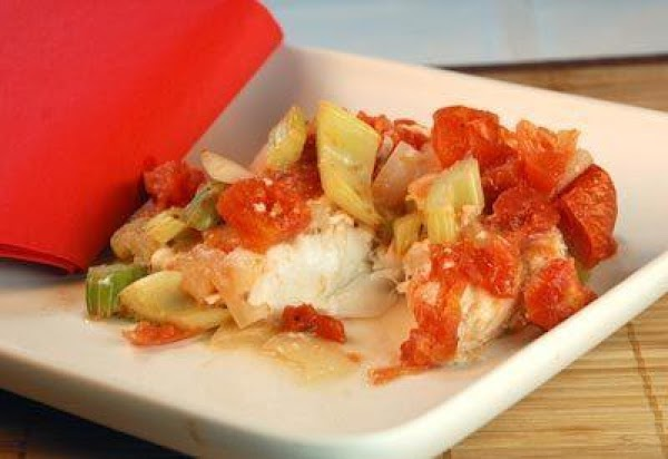 Baked Grouper With Sauteed Vegetables Recipe
