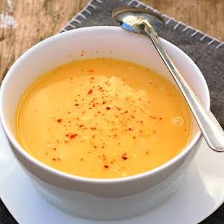 Coconut Curried Pumpkin Soup.